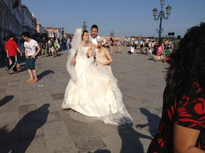 Happy couple, a few yards from San Marco