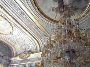 .. with stunning chandeliers...