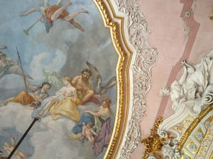 .. and frescoes, and moulding, and gold
