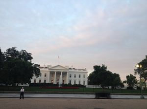 Ten minutes' walk to the White House