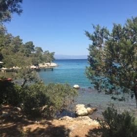The beach, a serene cove