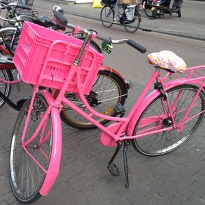 Bikes in Amsterdam come in many colours…