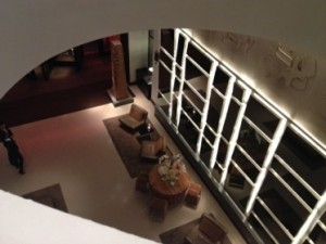 Looking down to the lobby (sorry, Living Room)