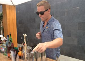 Taking part in the bartender competition