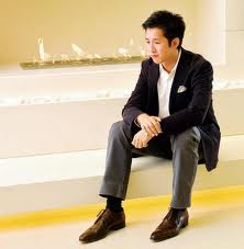 Designer Andre Fu, photographed at The Upper House Restaurant in Hong Kong