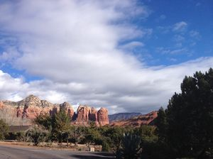Drive to Sedona and its characteristic red earth