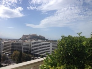 Look out at the Acropolis, suite 614, the Grande Bretagne