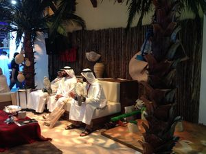Falcons on the Abu Dhabi stand