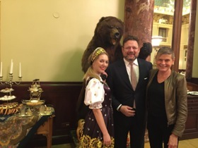 Walter Neumann with two ladies and one bear