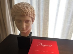 Statue and Baccarat book in room 1207