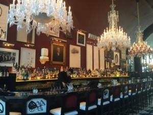 View along the main bar