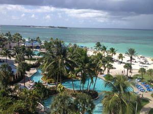 View down from room 815, Melia Nassau Beach