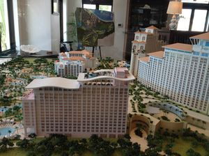 Model of the entire complex…
