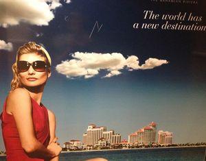 Poster in the Baha Mar executive elevators