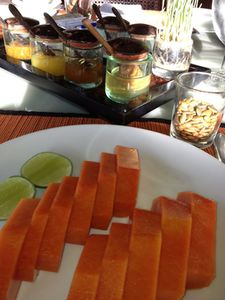 Papaya, at breakfast