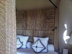 bed at a villa at oberoi resort - mauritus