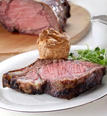 Roast beef and Yorkshire pudding, at The Rib Room, London
