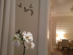 Such an elegant suite, with butterflies on the walls