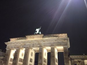 Brandenburg Gate, as the gal left her Adlon home