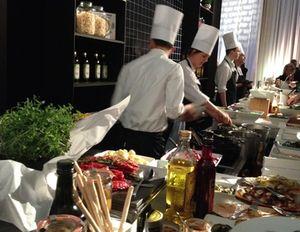 InterContinental Berlin's fabulous dinner buffet had pasta…