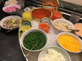 Seafood corner of the Adlon's copious breakfast buffet