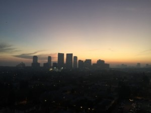 Sunset over Century City, from suite 1407