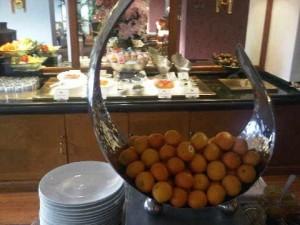 Breakfast Club buffet of the Mandarin Oriental luxury hotel in Manila