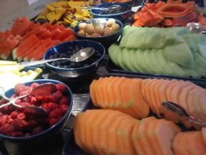 Breakfast fruit, Park Hyatt hotel, Dubai