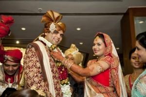 Nemin Vohra with his beautiful bride, Parmi Bheda