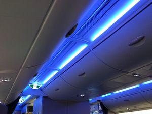 Interior lighting evolves from blue...