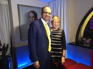 Kapil Chopra stands in front of Nicole Kidman
