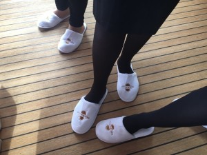 Slippers to walk the plank