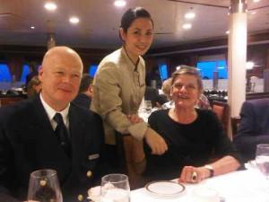 Captain Adam Boczek hosts dinner on Silver Explorer
