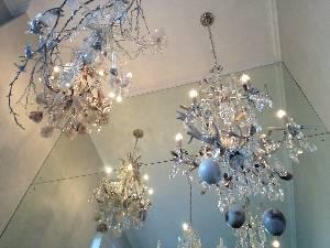 chandeliers ...