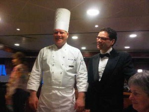 The onboard team includes Md' Marcello, Sommelier Javier, Chef Christian