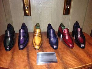 Six Berluti shoes, by the elevators