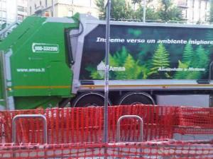 Milan's garbage truck