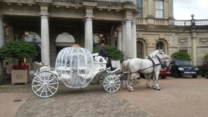 The carriage awaits outside Cliveden's front door