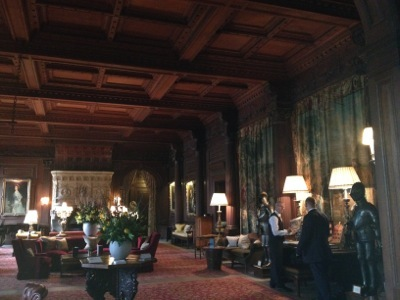 Cliveden's Great Hall, hung with ancestral portraits