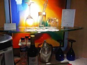 In-room minibar - Makati Shangri-la luxury hotel, Manila