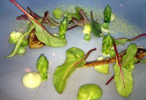Green salad at Collage, Conrad Tokyo