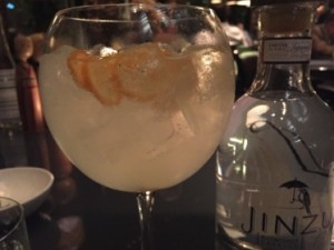 Japanese gin and tonic