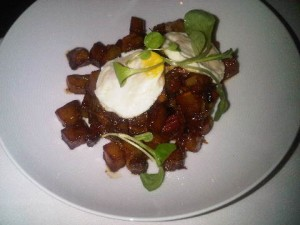 Corned beef hash, by Daniel Boulud at Café Boulud, The Surrey luxury hotel, New York