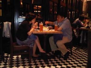 Couple tastes Paulaner beer at Kempinski Hotel Beijing Lufthansa Center