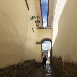 Some Cusco streets are very narrow
