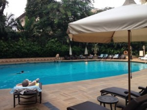 The hotel's pool