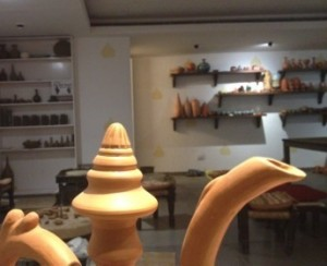 Looking into the working pottery
