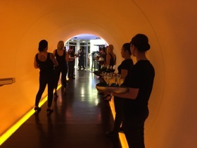 Welcome line to Jumeirah's party at Zero Gravity
