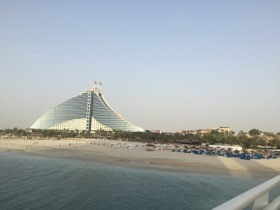 Looking at Jumeirah Beach Hotel from Burj Al Arab