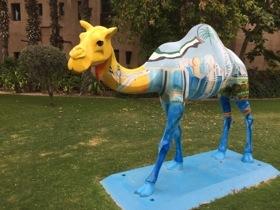 Decorative camel, near Dar Al Masyaf